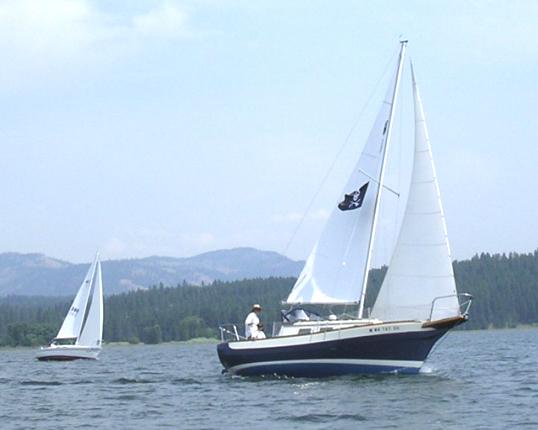 Blue Heron under sail