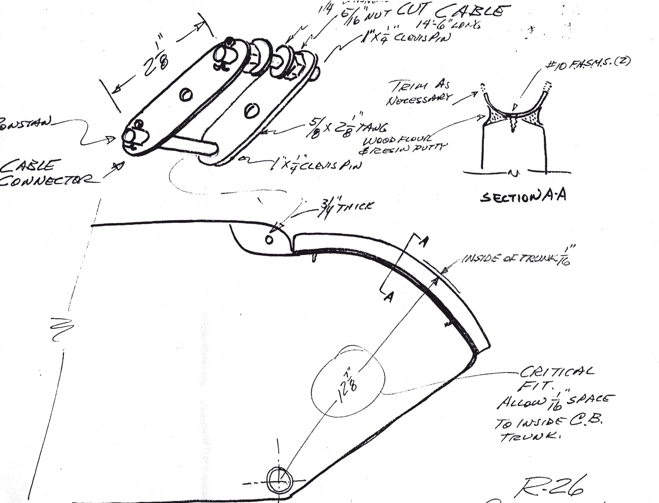 Tech Drawings | Ranger 26 Sailboats