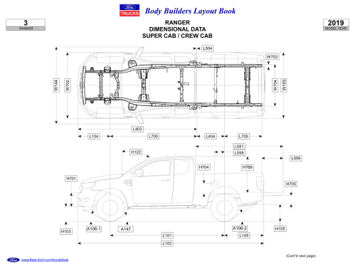 small resolution of 2019 ford ranger body builders layout book 04 png