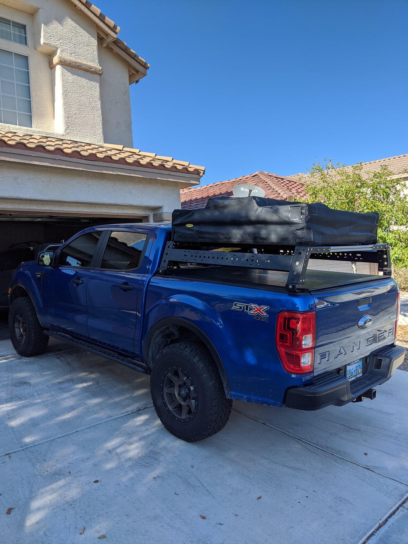 bed rack rtt installed 2019 ford