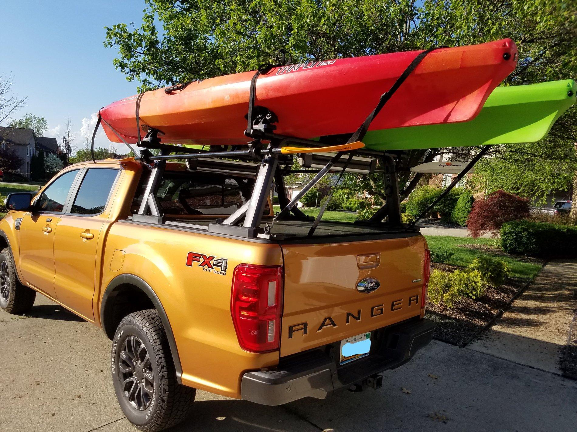 kayak rack setup 2019 ford ranger