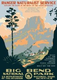 Contemporary WPA Postcards - Big Bend National Park ...