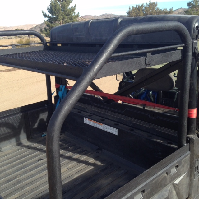 diy rear racks or tool holders on rear