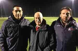 Regan King con il Vicepresidente Carta ed il Coach Rampazzo