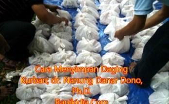 Cara Menyimpan Daging Kurban; dr. Nanung Danar Dono, Ph.D.