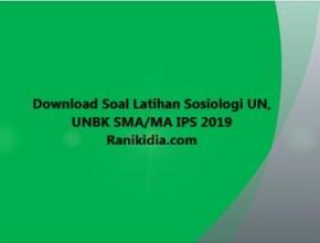 Download Soal Latihan Sosiologi UN, UNBK SMA/MA IPS 2019