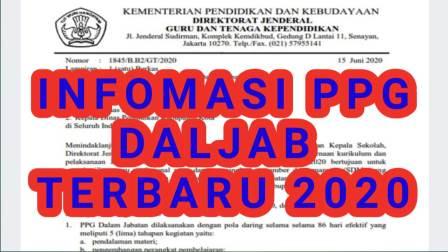 Informasi PPG DALJAB Terbaru 2020