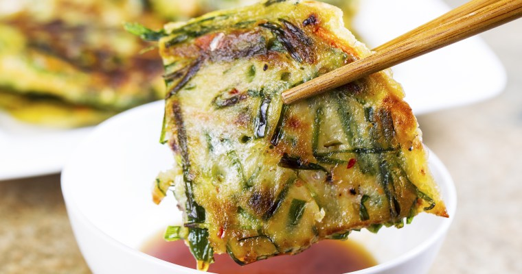 Asian green onion pancakes