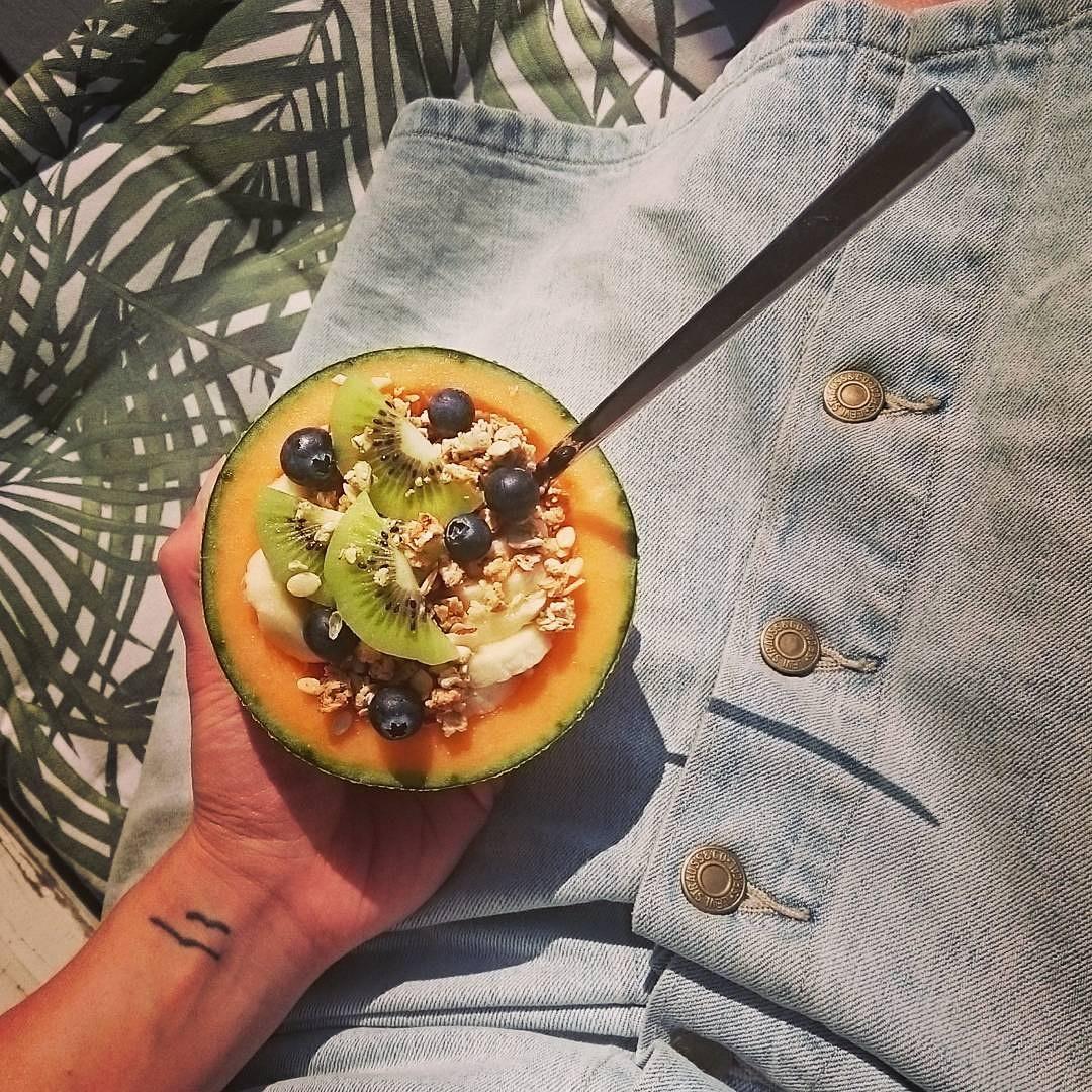 Melon breakfast bowl