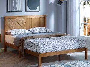 Tempat Tidur Kayu Jati Minimalis Bay Meryl