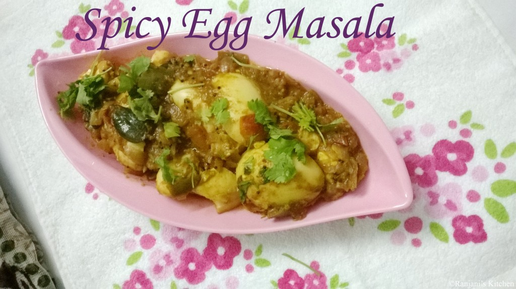 Spicy egg Masala