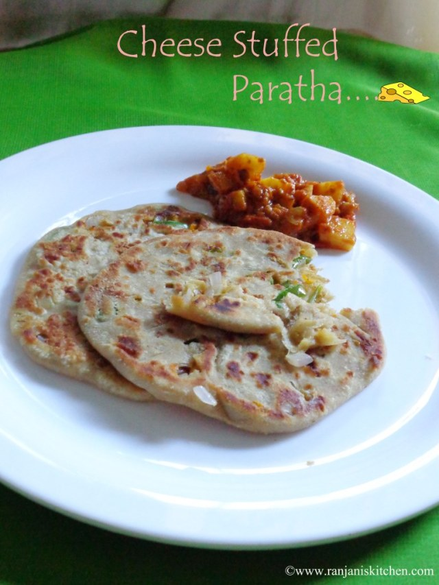 Veg Cheese Stuffed Paratha