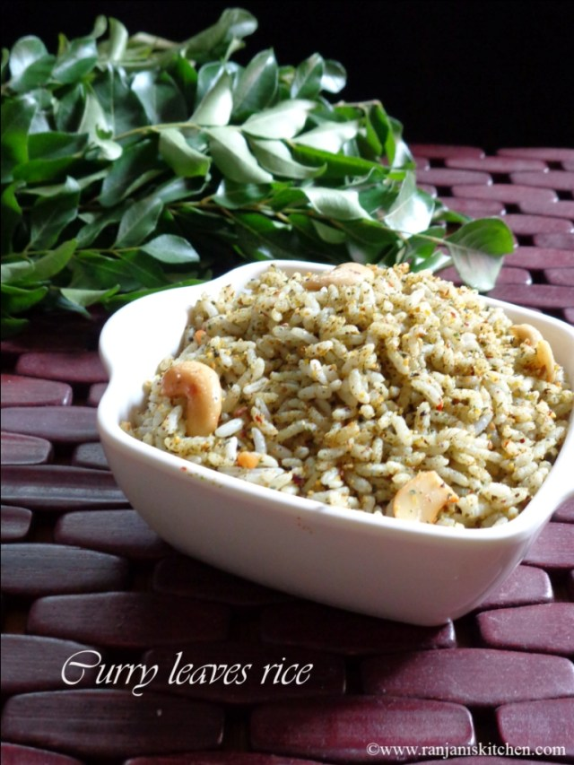 Curry Leaves Rice