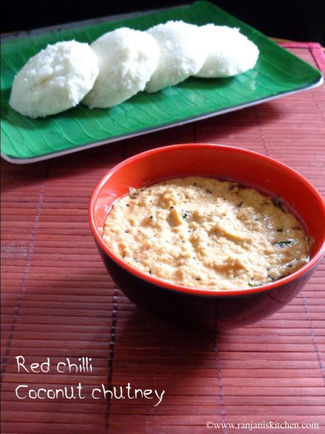 Red chilli coconut chutney