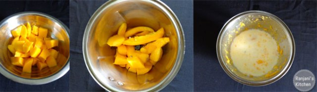 Method to prepare mango milkshake