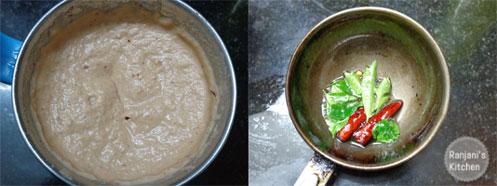 stepwise making of chutney