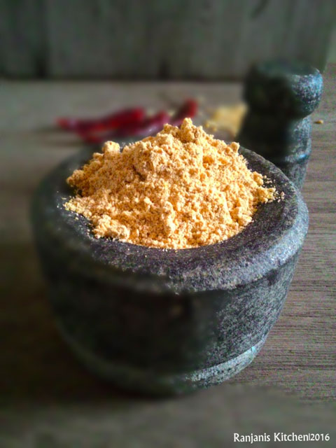 Garlic podi recipe