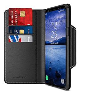 maxboost wallet folio magnetic closure case for s9 plus