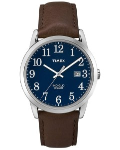 Leather strap timex