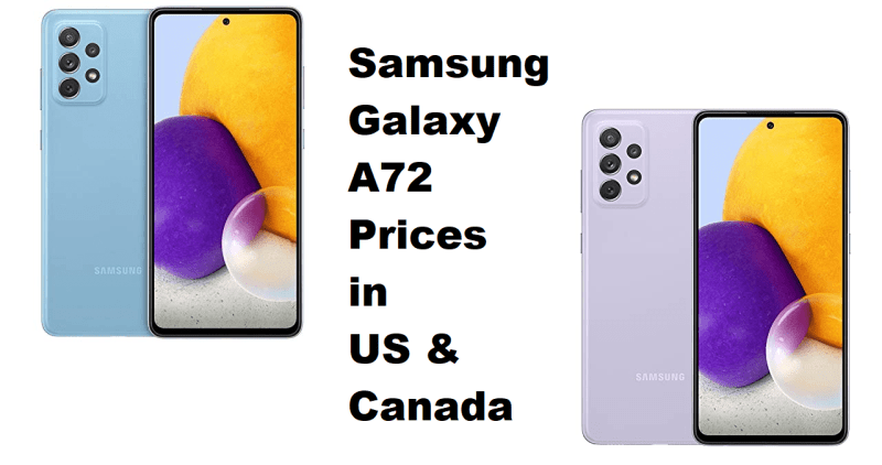 Galaxy A72 prices US Canada