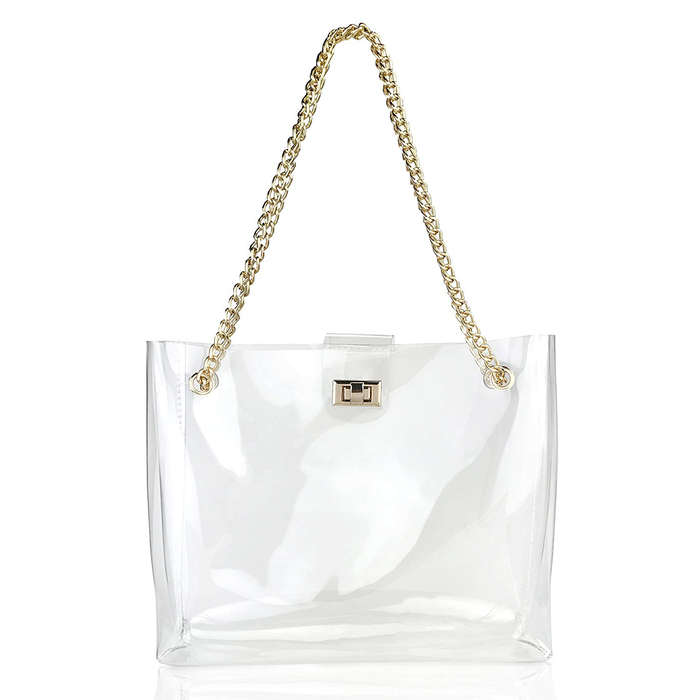 hoxis clear chain tote