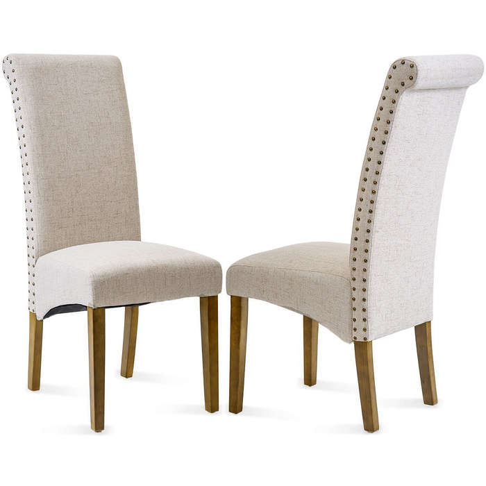 dining chairs fabric real leather club chair 10 best under 100 rank style merax padded side with solid wood legs