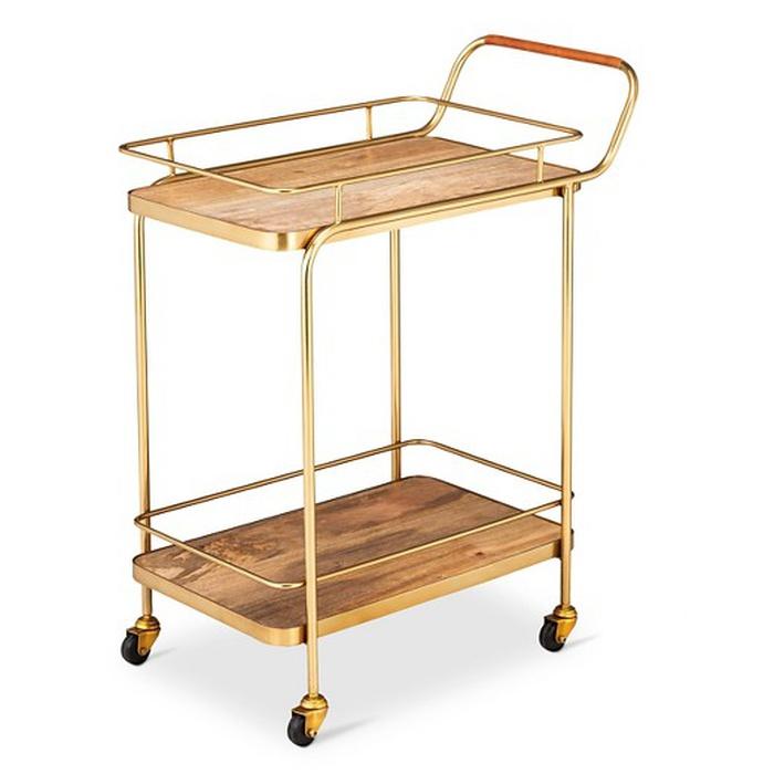 World Market Acrylic Bar Cart