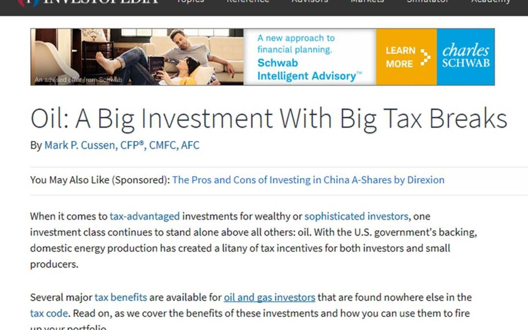 Tax Time is fast approaching – Have you considered investing in oil?