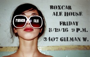 Ranken File Seattle Rock Band Poster for Boxcar Ale House 081916
