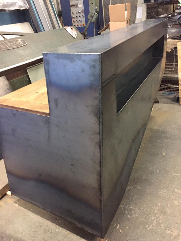 Steel Clad Till Desk  Rank Engineering Bristol