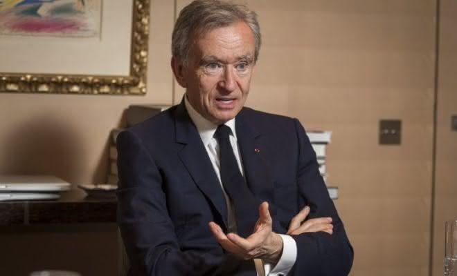 Bernard Arnault lista dos homens mais ricos