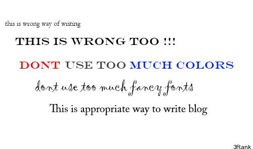 Blog wrinting Format