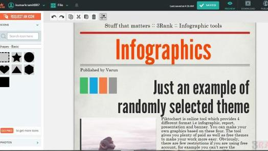 piktochart - Tools to Create your own Infographics