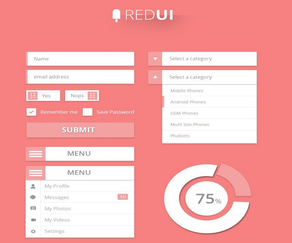 red ui