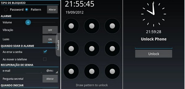 Alarm Anti Theft Screen Lock