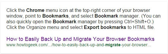 how to extract bookmarks from google chrome
