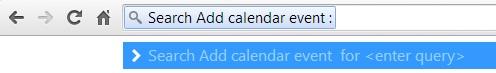 Add Google calendar event from address bar
