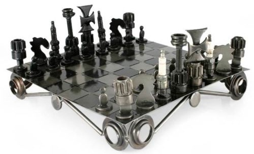 auto parts chess set