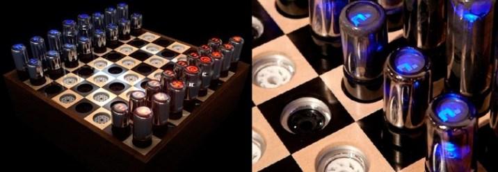 Chess set for Tesla