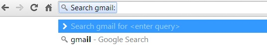 Search Gmail from address bar