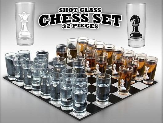 Thumbs Up Shot Glass Chess