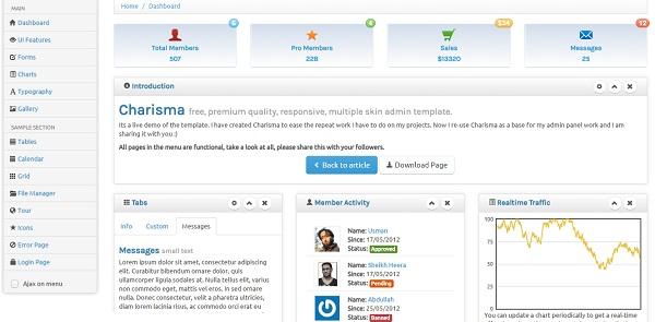 35+ Feature Rich Bootstrap Admin Templates | Free & Premium
