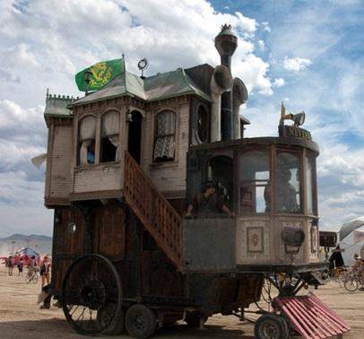 house running vehicle