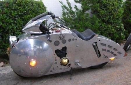 Strange Streamline Steal Motorcycle