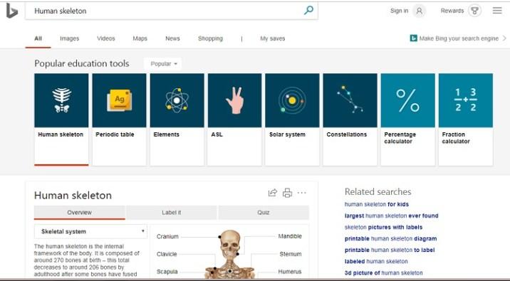 Bing Education Carousel