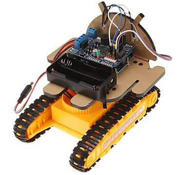 Phone Controlled Tracked Vehicle