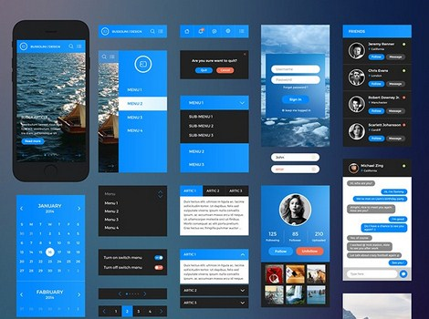 iPhone 6 UI kit