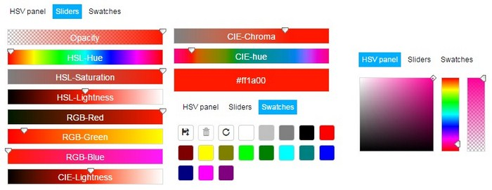 Color Picker Sliders