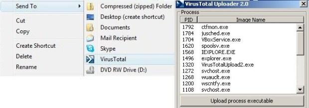 VirusTotal Windows Uploader