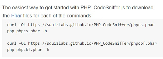 PHP CodeSniffer